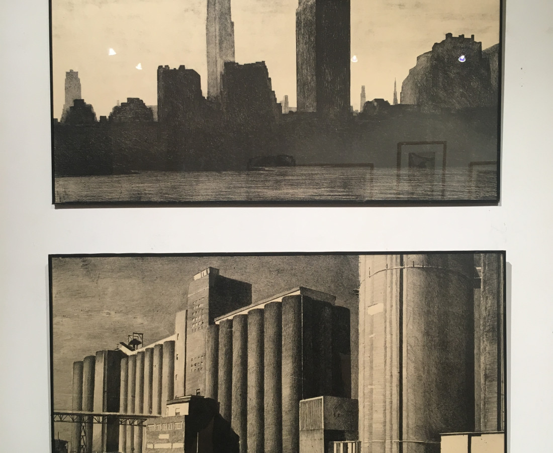 "Jean-Baptiste Sécheret. ""New-York"" et ""Silos"". Lithographies"