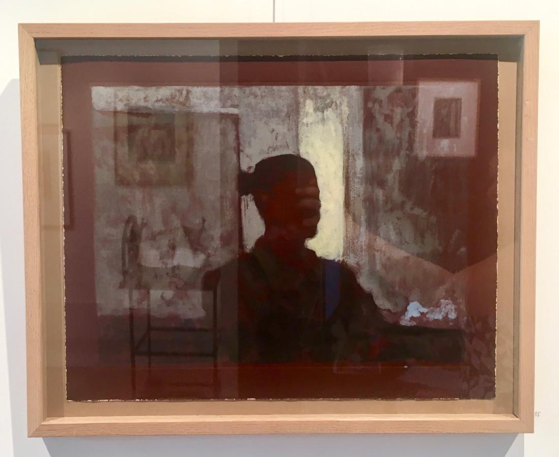 Nicolas Sage, Autoportrait dans l'atelier, 2017