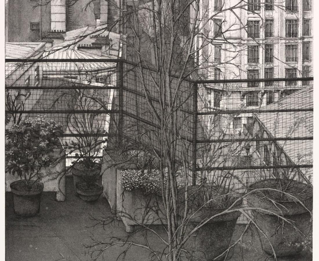 Érik Desmazières, La Rue Charles Nodier, 1990