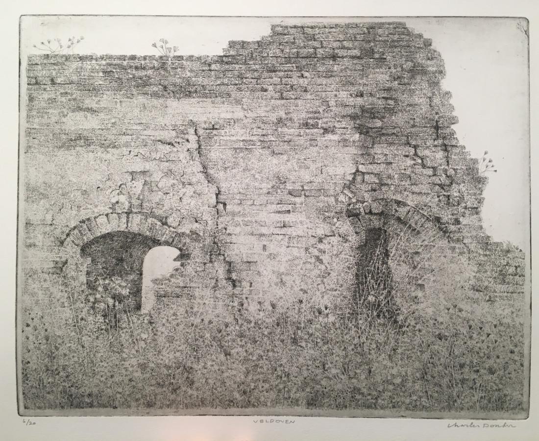 Charles Donker, Four à briques - Ruine d'un four de champ (polder près de Nijmegen, Persingen Ooy), Ca. 2014