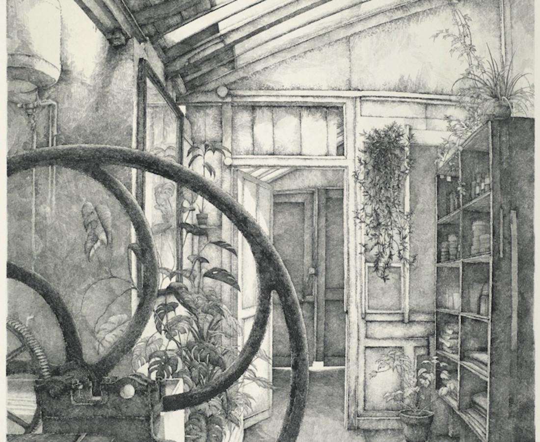Érik Desmazières, L'Atelier René Tazé ( II ), 1980