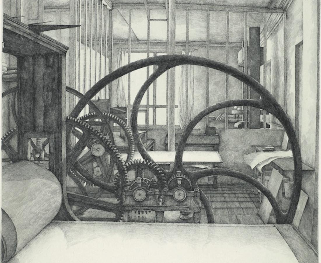 Érik Desmazières, L'Atelier René Tazé ( III ), 1981