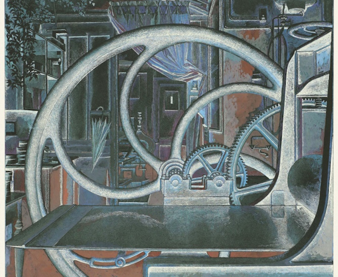 Érik Desmazières, Atelier René Tazé V (épreuve rehaussée), 1992-1993-2018