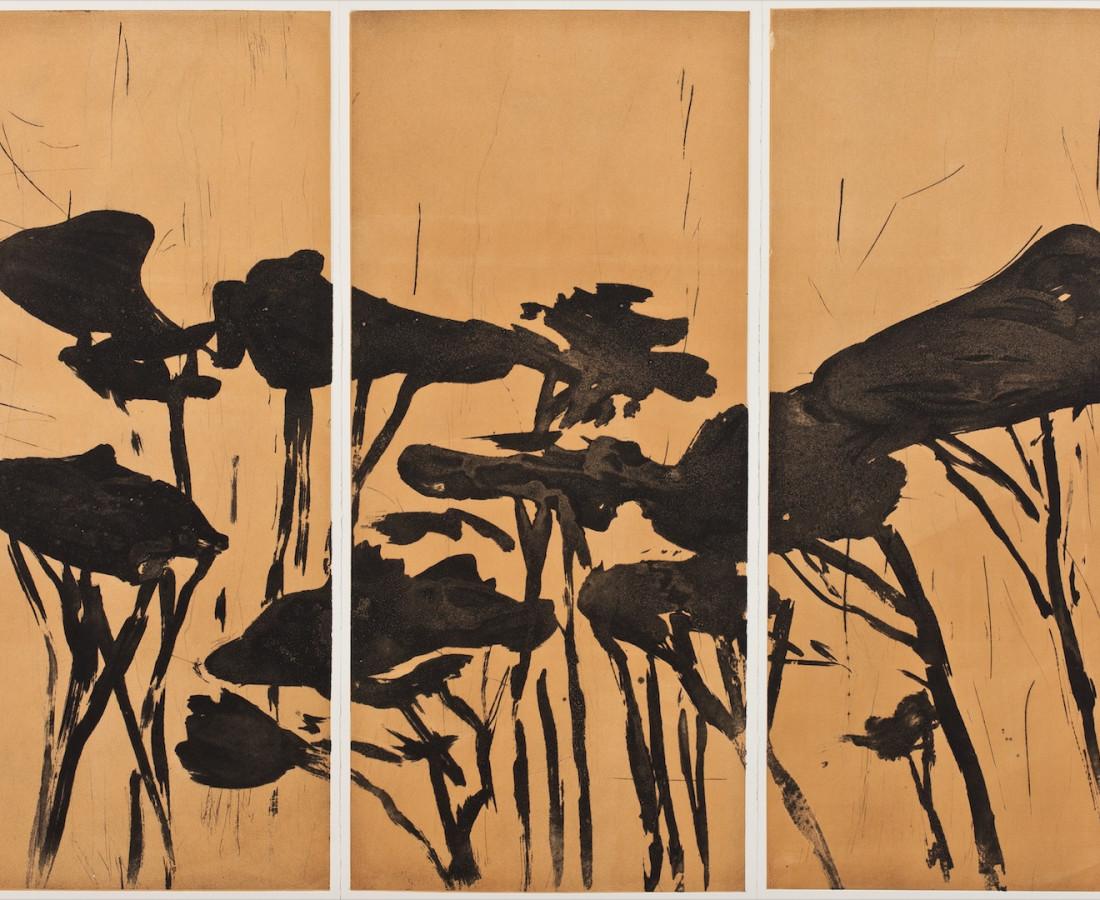 Astrid de La Forest, Triptyque (Pins parasols), 2014