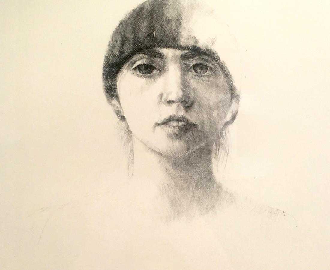 Charles Donker, Portret van de vrouw van de kunstenaar, Niovy Chiotakis (Portrait de la femme de l'artiste, Niovy Chiotakis), 1969