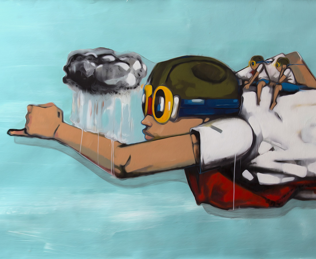 Hebru Brantley Riding High, 2014
