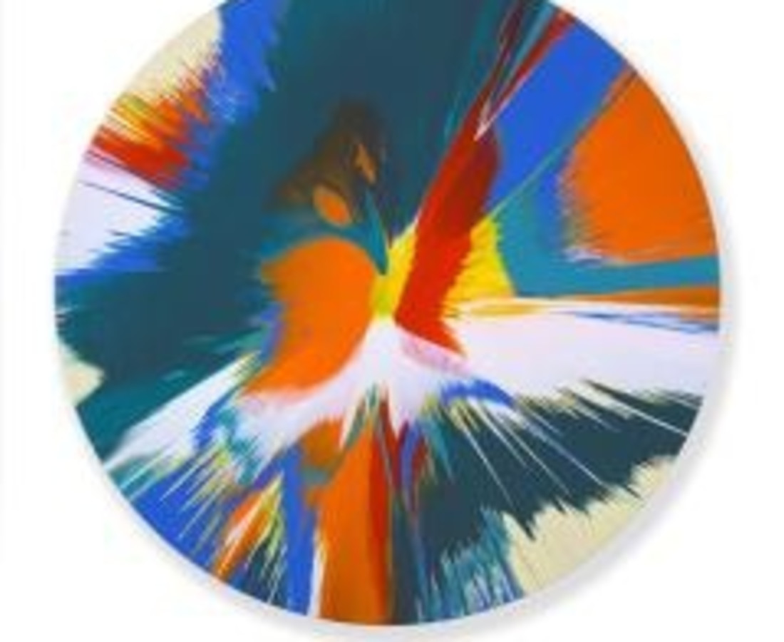 Damien Hirst Beautiful Primal Urges Painting, 2008