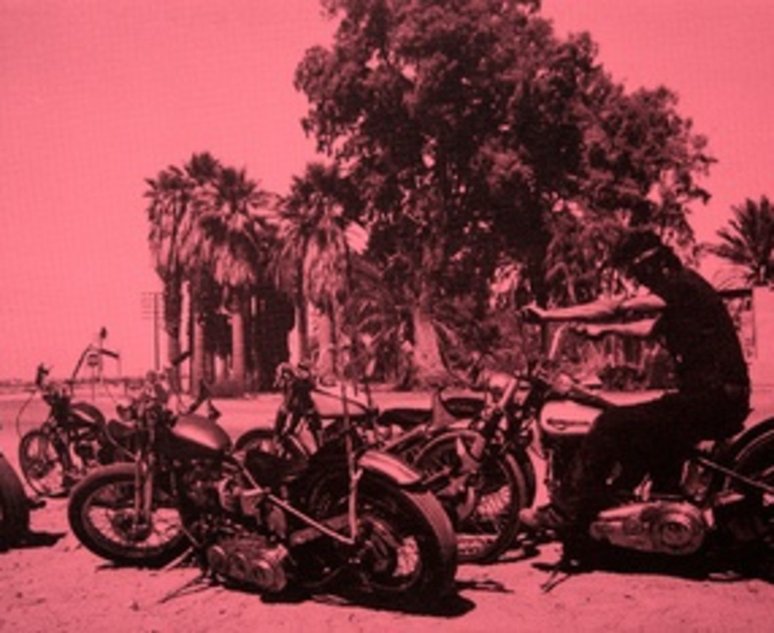 Russell Young Lost Angel #2 - Fight pink + Black, 2014