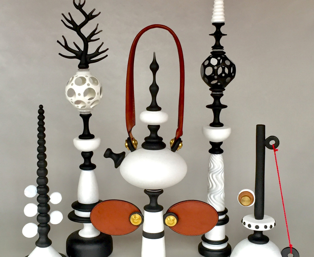 """Andy Paiko, Ivory Series, 25""""H tallest"""