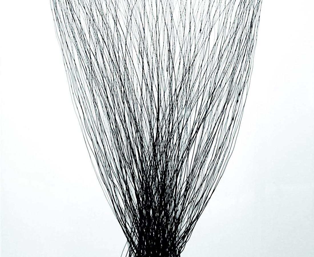 Going Alone, 2011  Enamel on white lacquered aluminium  150x150cm