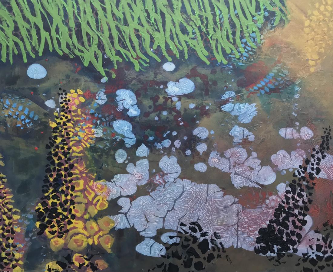 Frances Ryan, Creek, oil on panel, 46 x 61cm