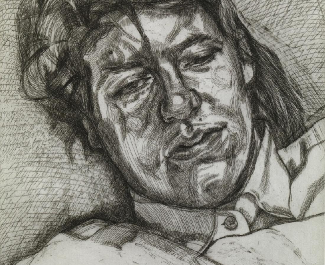 Lucian Freud, Bella, 1987, etching, 69 x 57cm