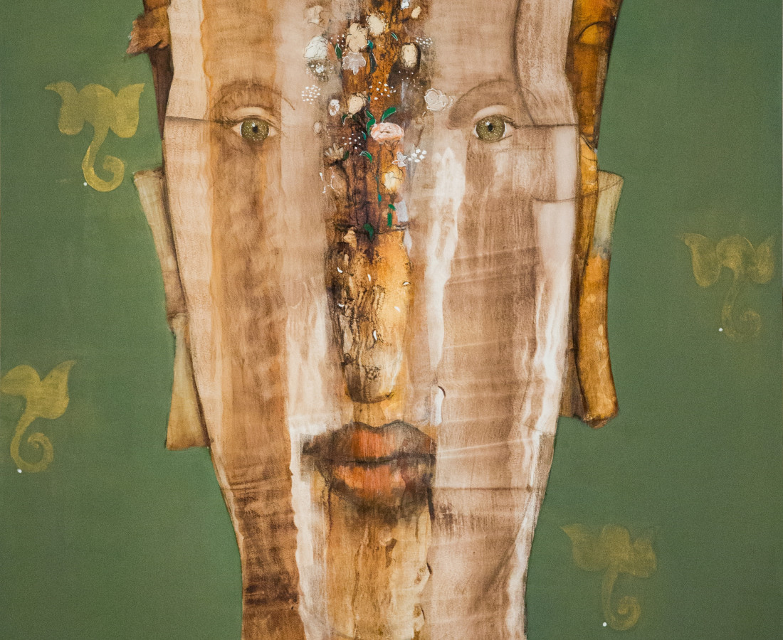 Queen Nefertiti Mixed media on canvas 227 x 162 2017