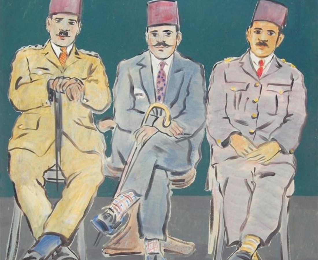 The Gentlemens, 2005 Acrylic on Canvas 100 x 120 cm