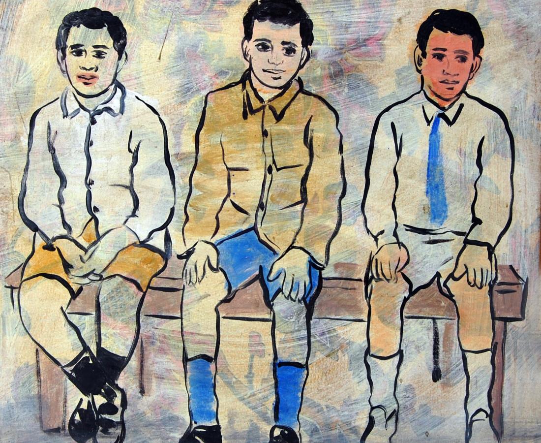 Boys, 2006 Acrylic on Canvas 50 x 50 cm