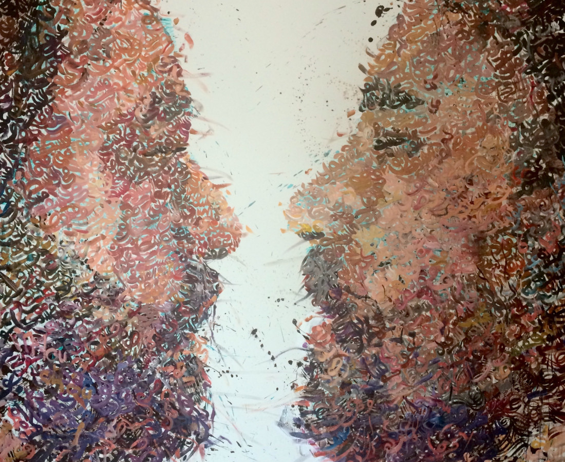 Conversation #4, 2015 Acrylic on canvas 200 cm x 175 cm