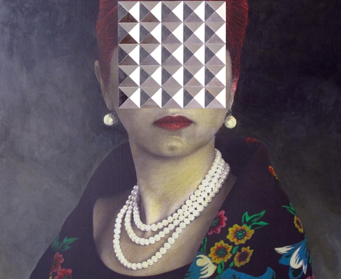 No.1 from My Self- Portrait? series - digital print, acrylic & mirror on board- 120x80 cm- edition 1 of 3- 2013.