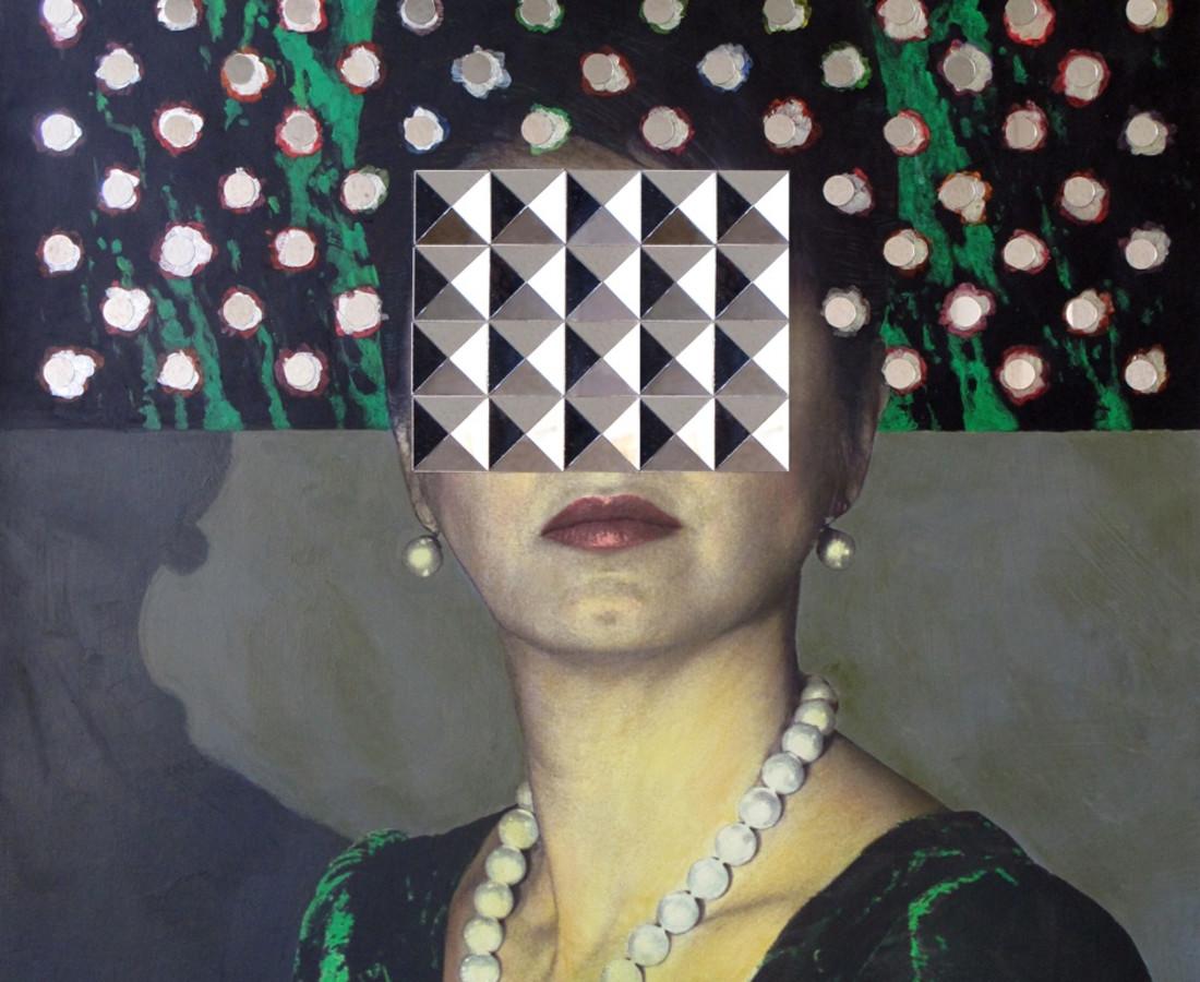 MY Self- Portrait? series - digital print, acrylic & mirror on board- 120x80 cm- edition 1 of 3- 2013.