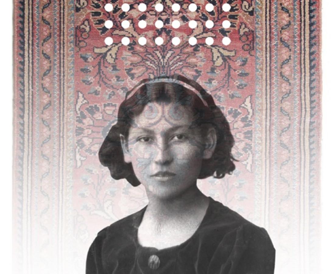 No.3 from Mirror Garden series, Stroll Inside Qashqai carpet- digital print on Plexiglas, mirror& Qashqai carpet- 150x100 cm- 2013
