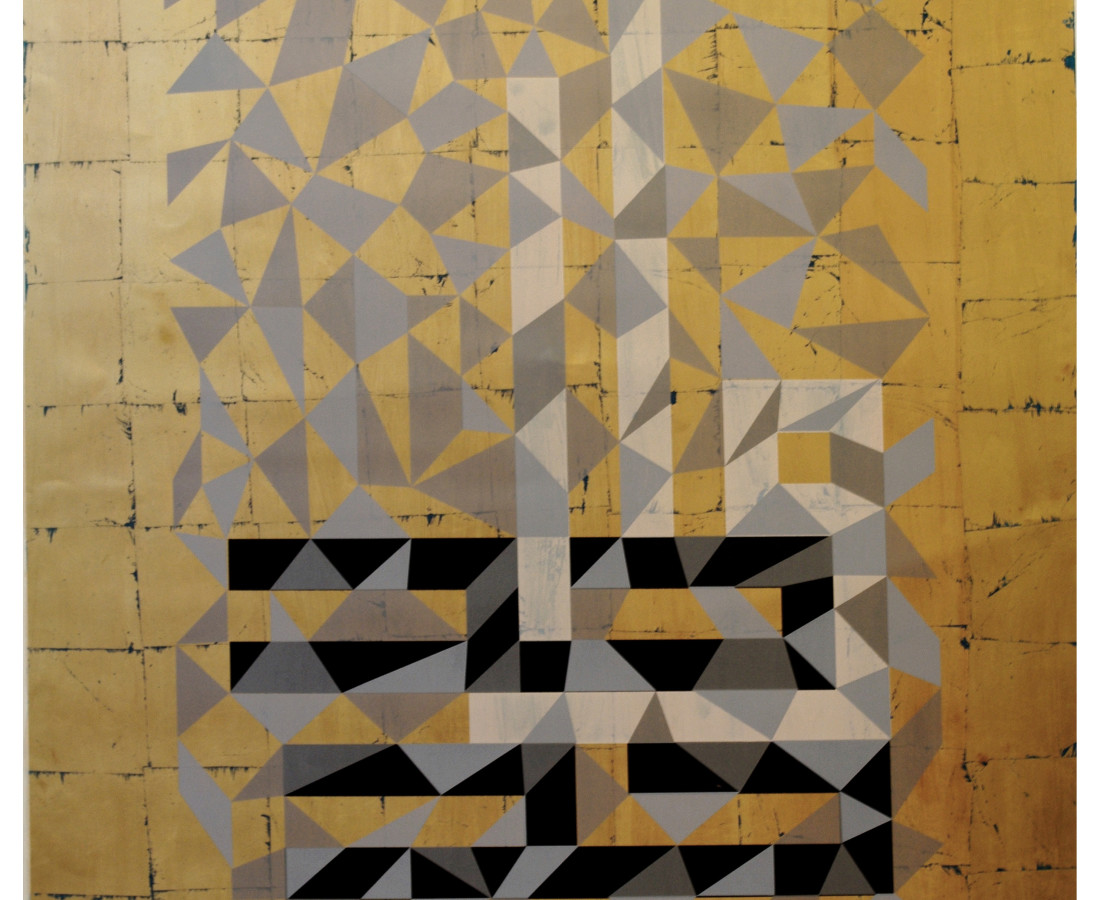 Wahid, Silkscreen on Gold Leaf and Archival Paper, 122 x 152, 2013