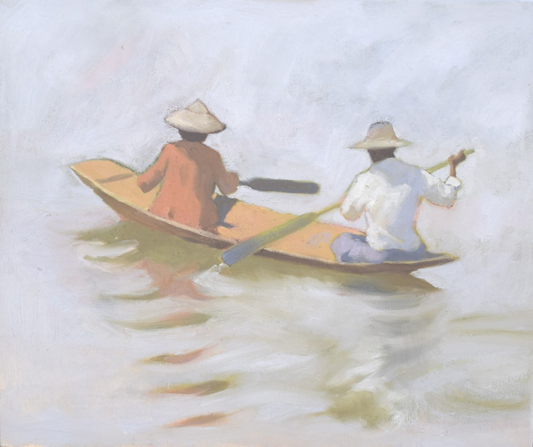 """<span class=""""artist""""><strong>Clare Granger</strong></span>, <span class=""""title""""><em>Paddling About</em></span>"""