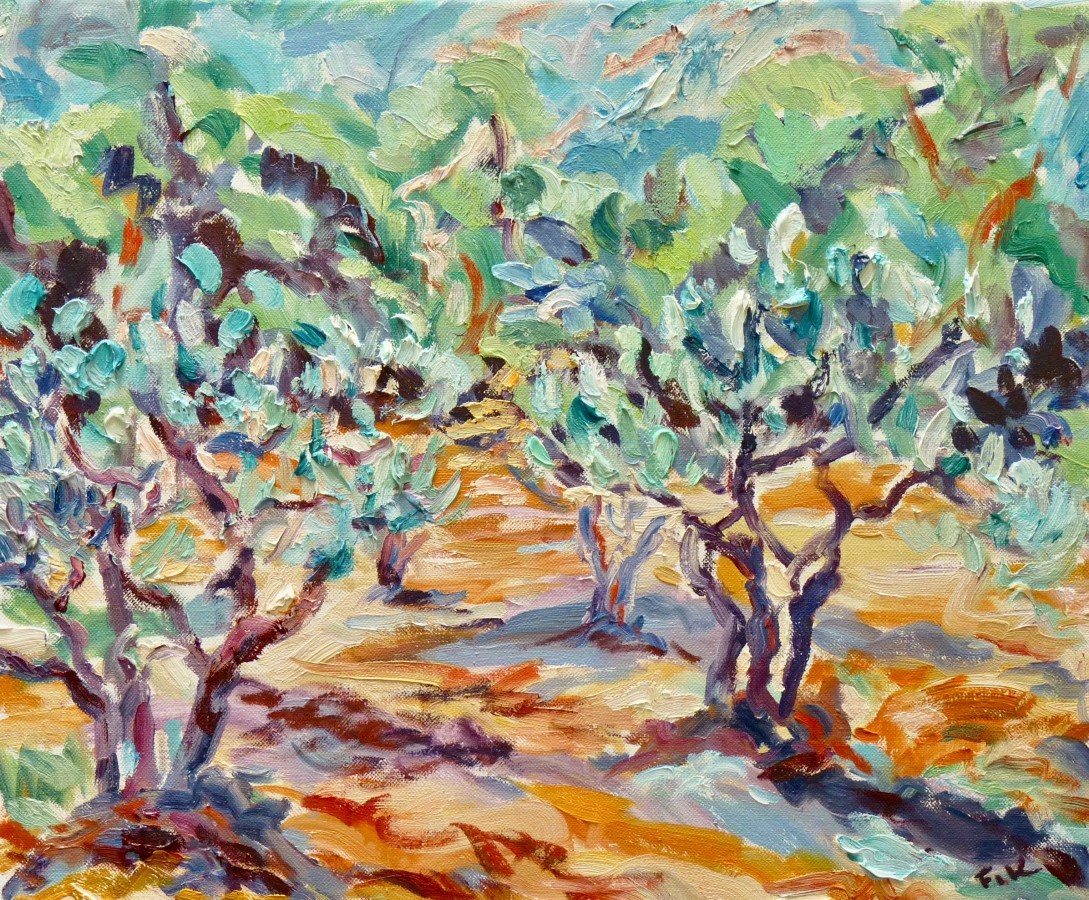 <span class=&#34;artist&#34;><strong>Fi Katzler</strong></span>, <span class=&#34;title&#34;><em>Olive Grove at L'Abeille (London Gallery)</em></span>