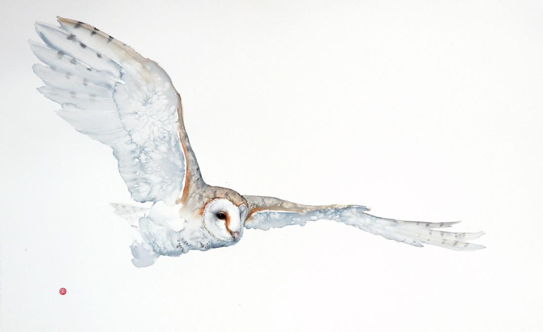 <span class=&#34;artist&#34;><strong>Karl Martens</strong></span>, <span class=&#34;title&#34;><em>Barn Owl Flying (Unframed)</em></span>