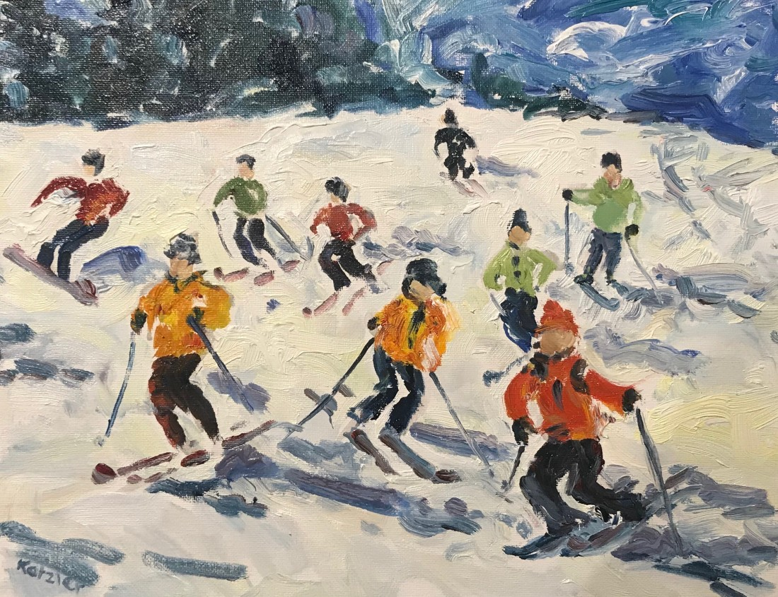 <span class=&#34;artist&#34;><strong>Fi Katzler</strong></span>, <span class=&#34;title&#34;><em>Skiers (London Gallery)</em></span>