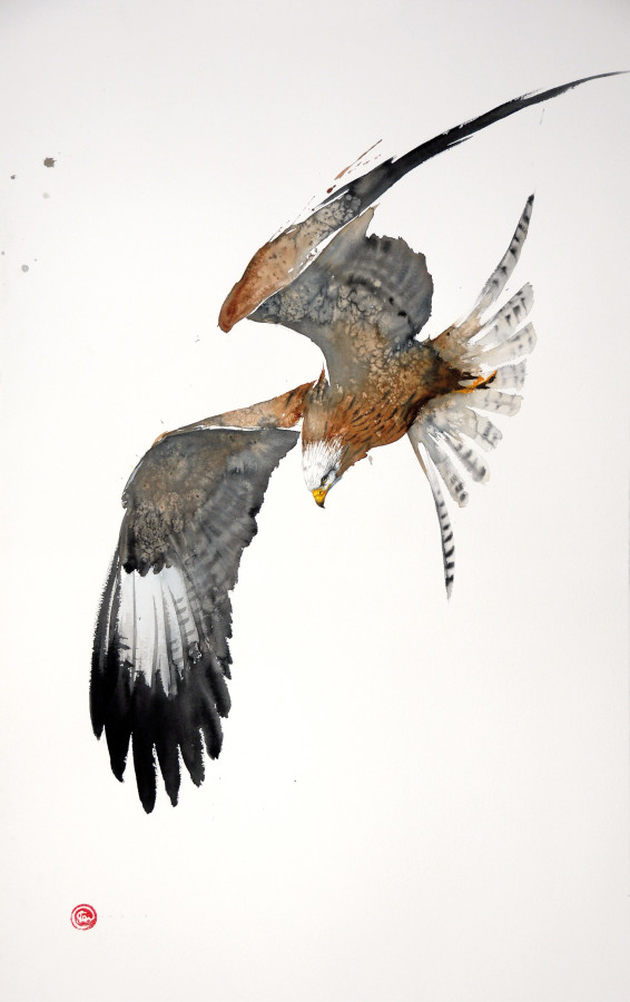 <span class=&#34;artist&#34;><strong>Karl Martens</strong></span>, <span class=&#34;title&#34;><em>Red Kite Flying I (Unframed)</em></span>