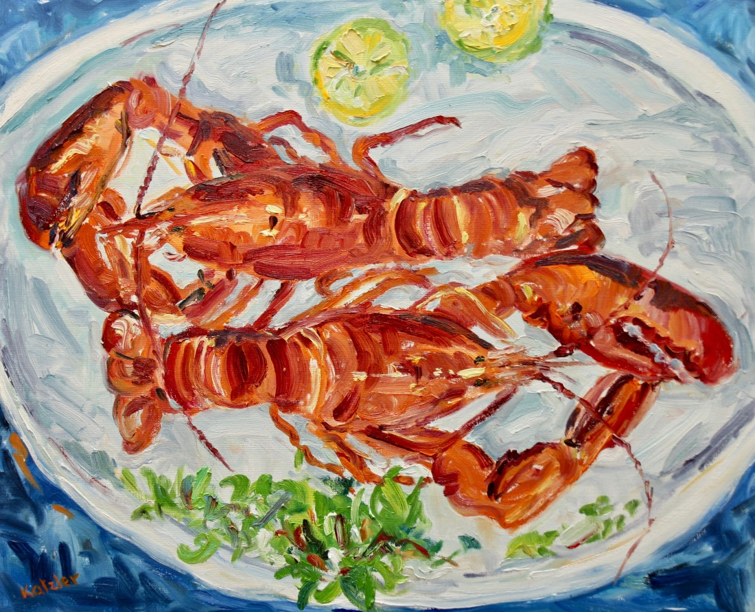<span class=&#34;artist&#34;><strong>Fi Katzler</strong></span>, <span class=&#34;title&#34;><em>Lobsters (London Gallery)</em></span>