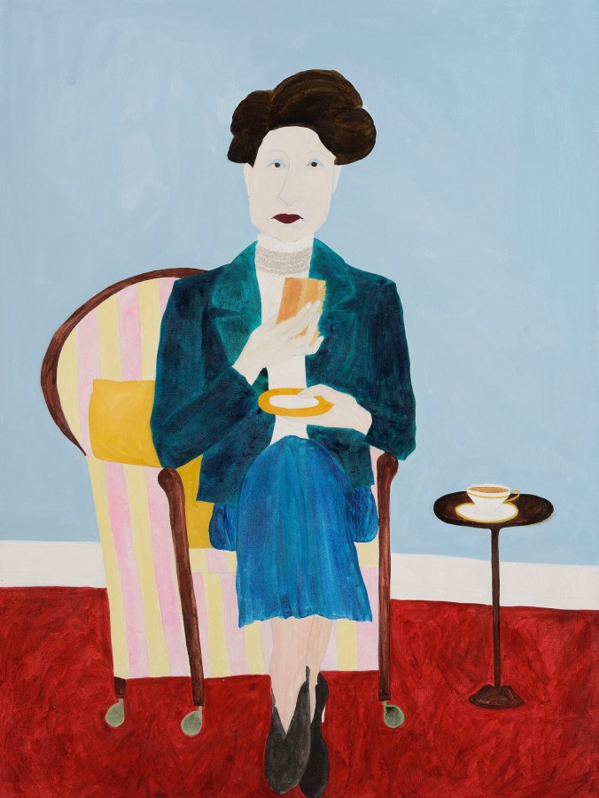 <span class=&#34;artist&#34;><strong>Kate Boxer</strong></span>, <span class=&#34;title&#34;><em>Constance Spry (acrylic ink on canvas)</em></span>