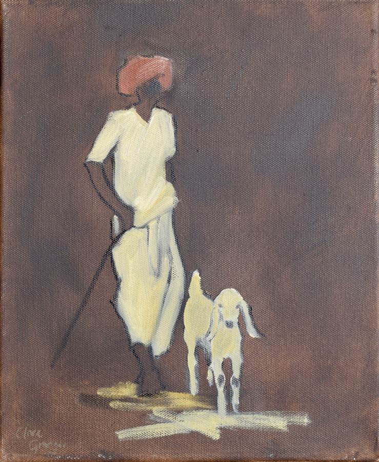 """<span class=""""artist""""><strong>Clare Granger</strong></span>, <span class=""""title""""><em>One White Goat</em></span>"""