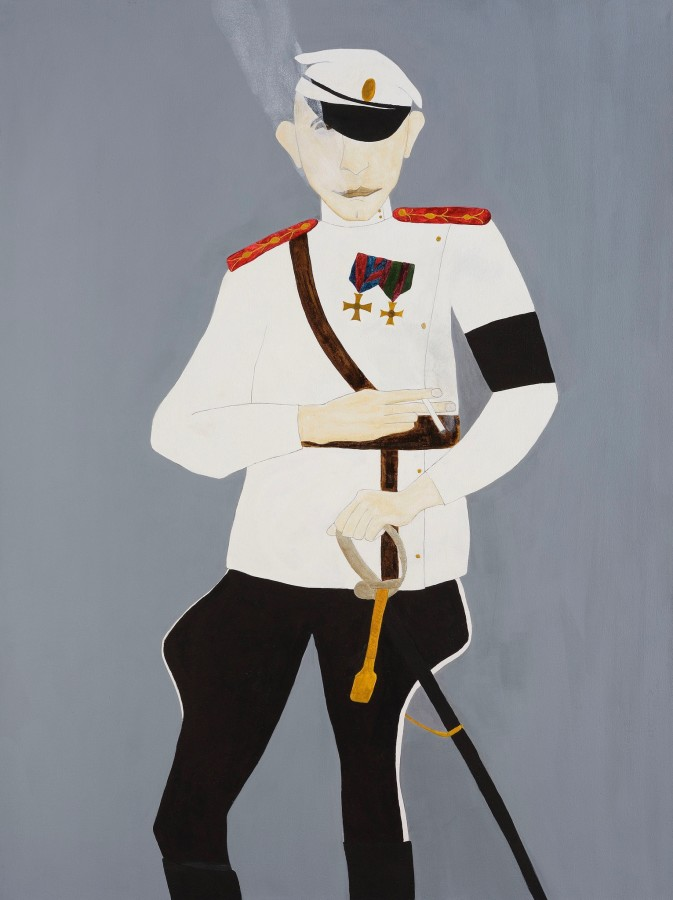 "<span class=""artist""><strong>Kate Boxer</strong></span>, <span class=""title""><em>Eric Von Stroheim</em></span>"
