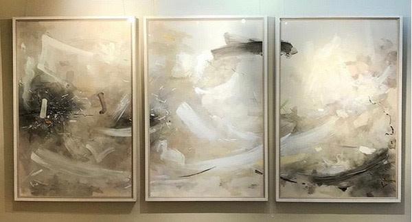 <span class=&#34;artist&#34;><strong>Bob Aldous</strong></span>, <span class=&#34;title&#34;><em>Triptych - Past Present Future</em>, 2017</span>