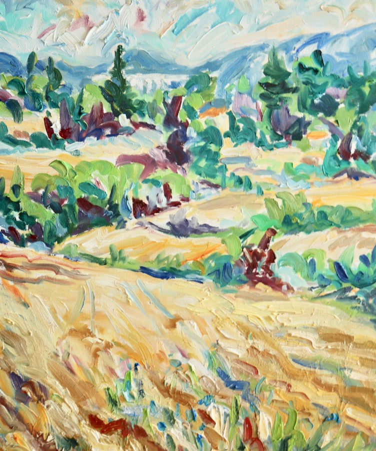 <span class=&#34;artist&#34;><strong>Fi Katzler</strong></span>, <span class=&#34;title&#34;><em>Wheat Fields, Aix les Milles (London Gallery)</em></span>