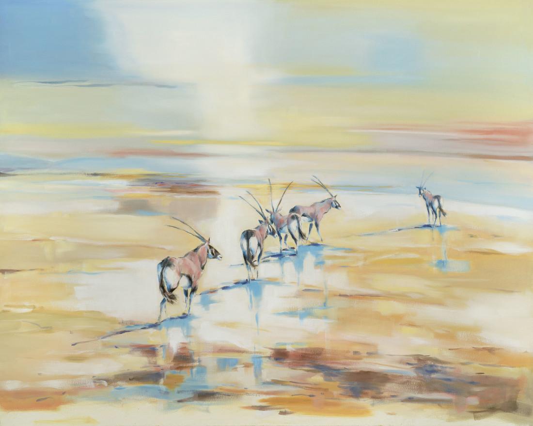 """<span class=""""artist""""><strong>Julia Cassels</strong></span>, <span class=""""title""""><em>Desert Oryx</em></span>"""