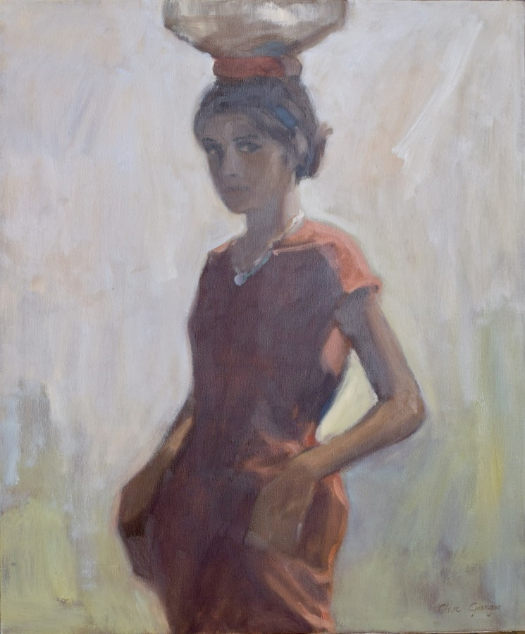 """<span class=""""artist""""><strong>Clare Granger</strong></span>, <span class=""""title""""><em>Girl in Red</em></span>"""