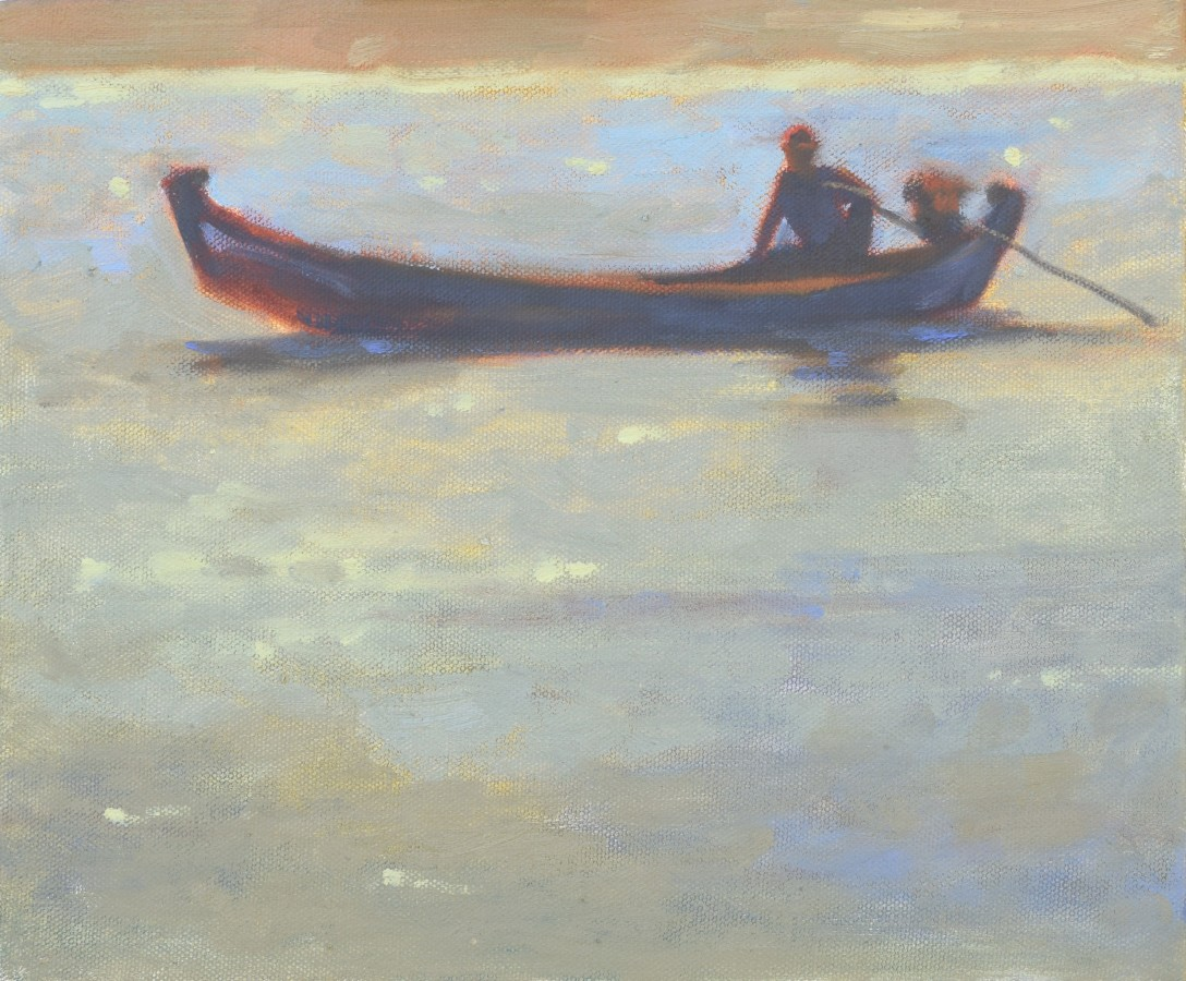 """<span class=""""artist""""><strong>Clare Granger</strong></span>, <span class=""""title""""><em>Boat against the Light</em></span>"""