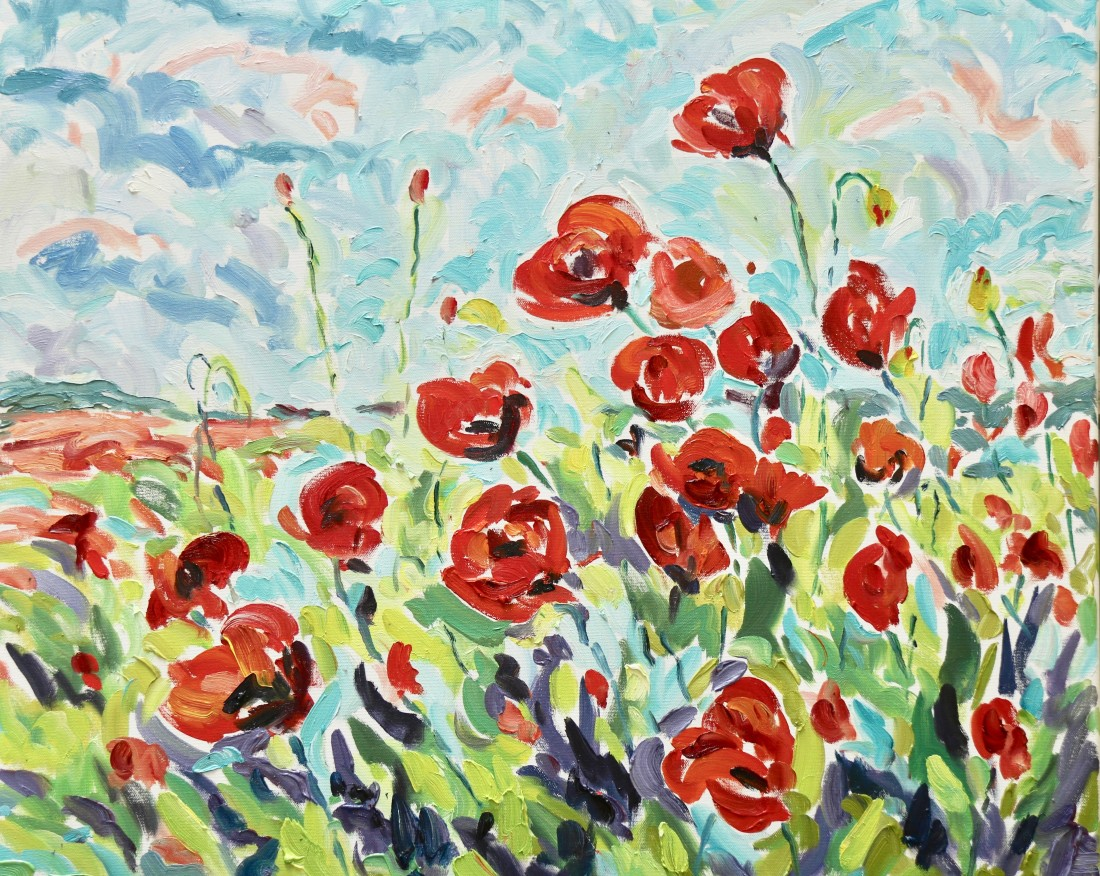 <span class=&#34;artist&#34;><strong>Fi Katzler</strong></span>, <span class=&#34;title&#34;><em>Poppies (London Gallery)</em></span>