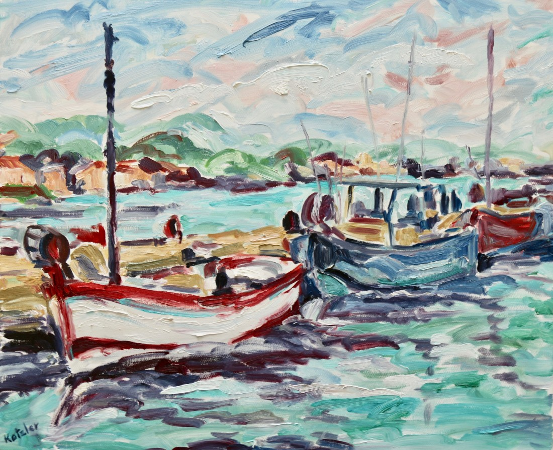 <span class=&#34;artist&#34;><strong>Fi Katzler</strong></span>, <span class=&#34;title&#34;><em>Port at Porquerolles (London Gallery)</em></span>