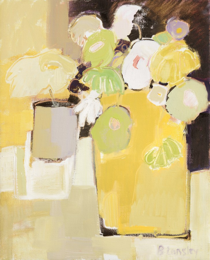 <span class=&#34;artist&#34;><strong>Bridget Lansley</strong></span>, <span class=&#34;title&#34;><em>Canary Yellow</em></span>