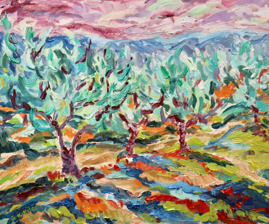 <span class=&#34;artist&#34;><strong>Fi Katzler</strong></span>, <span class=&#34;title&#34;><em>Olive Grove Sunset (London Gallery)</em></span>