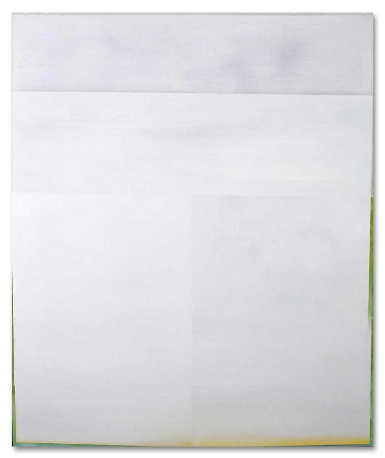 Jeffrey Cortland Jones  Notice (Fugitive), 2014  enamel, gesso, latex, and graphite on acrylic panel  36 x 30 in.
