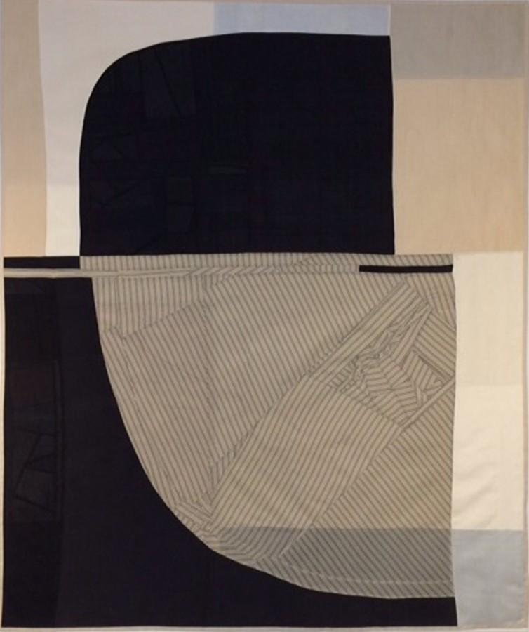 Debra Smith Above the Horizon, 2014 pieced vintage silk 48 x 58 in
