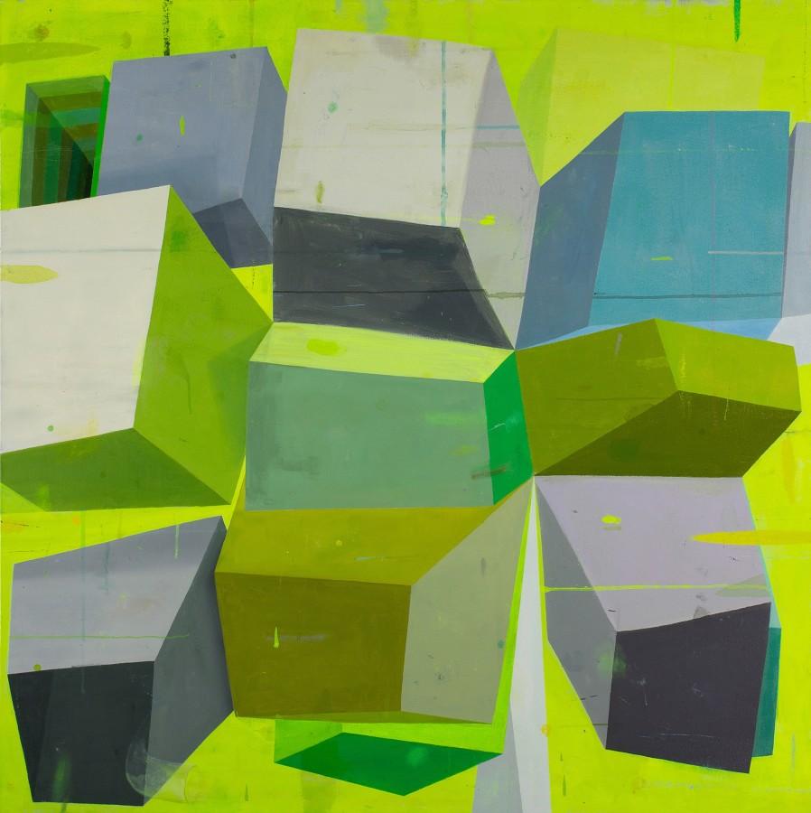 Deborah Zlotsky Naughty varlet, 2014 oil on canvas 48 x 48 in