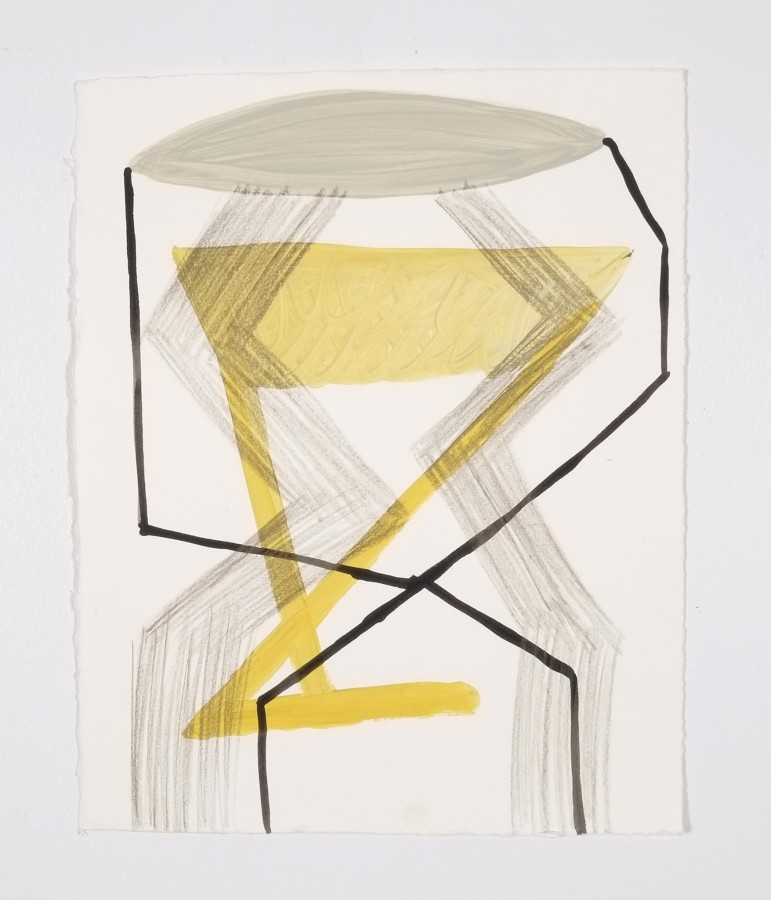 Ky Anderson 2015 Small Series #17, 2015 acrylic and ink on paper 12 x 9 in framed $425