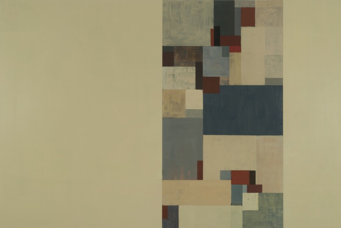 Tamar Zinn  Broadway 100, 2012  oil on panel  24 x 24 in
