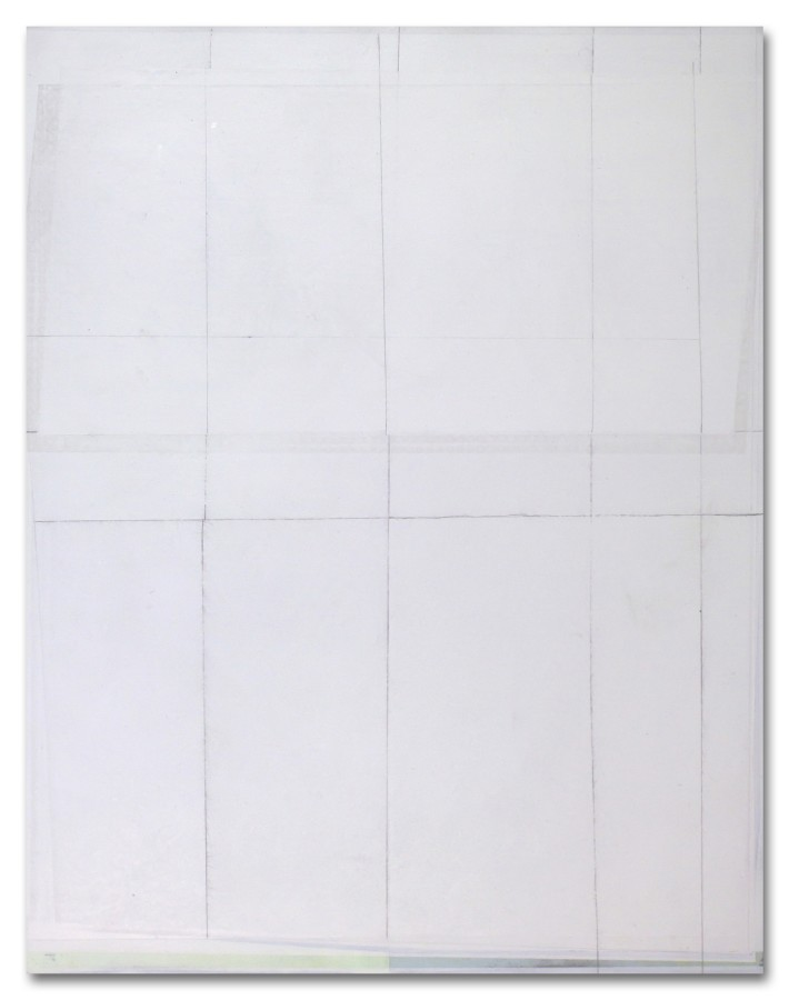 Jeffrey Cortland Jones  Knew, 2013  enamel, gesso, latex, and graphite on acrylic panel  14 x 11 in.