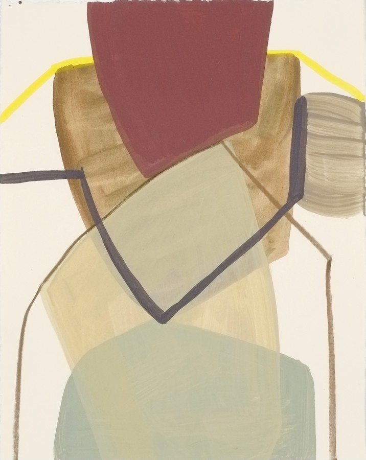 Ky Anderson  2015 Small Series #13, 2015  acrylic and ink on paper  12 x 9 in  framed $425