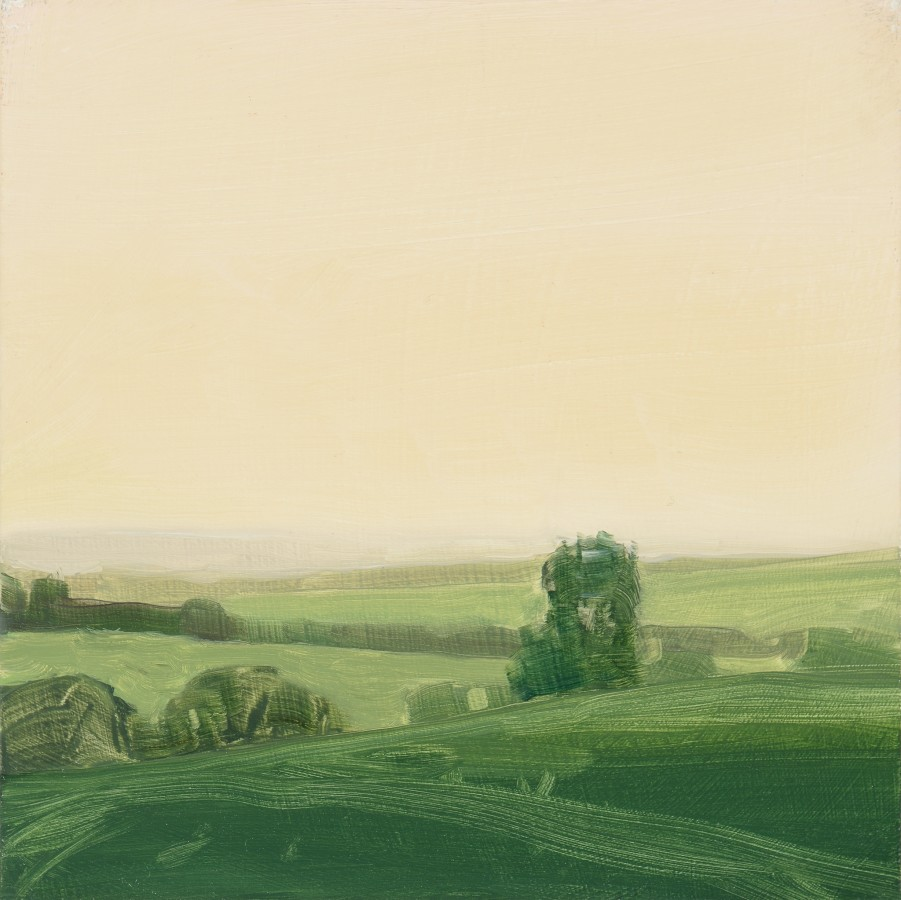 Sara MacCulloch Dusk, England, 2009 oil on panel 10 x 10 in. $1,400